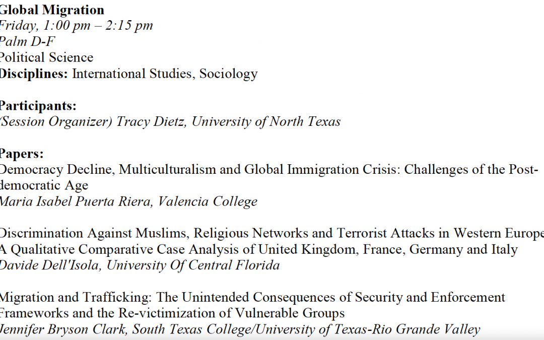 Democracy Decline, Multiculturalism and Global Immigration Crisis: Challenges of the Post-democratic Age